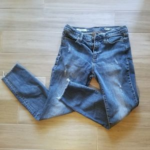 GAP mid-rise distressed jeans